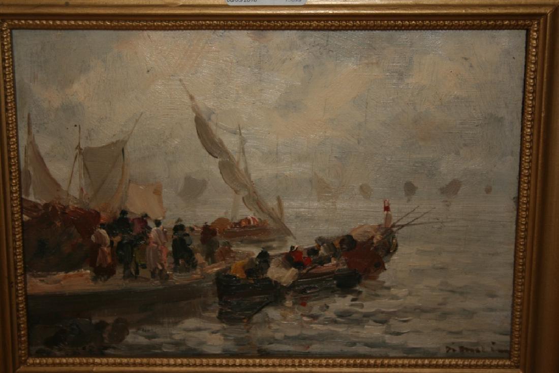 Francesco Di Marino, signed oil on panel, figures and