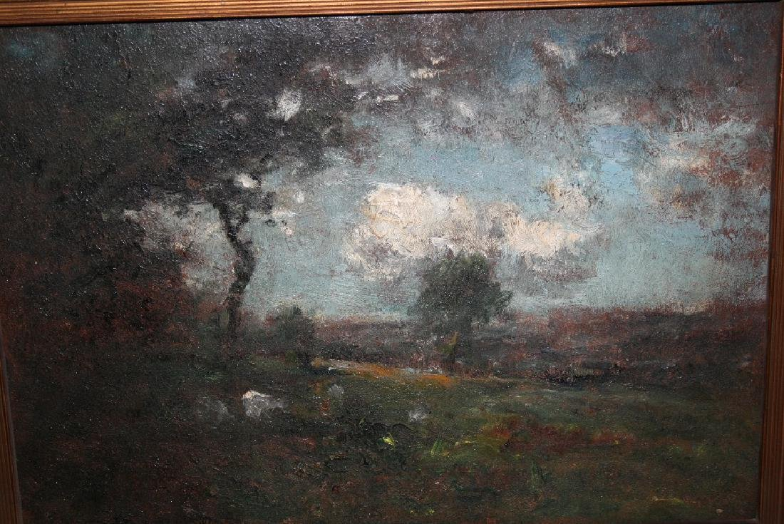 Attributed to George Boyle, oil on panel view across a