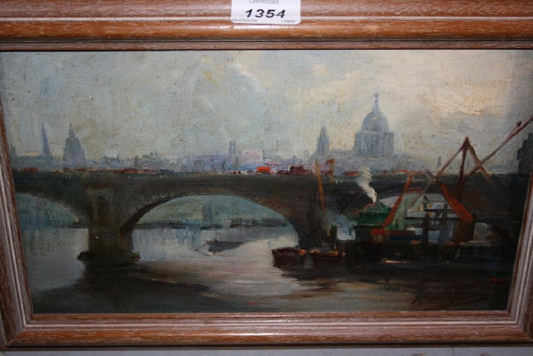 John Shapland, signed oil on canvas board, shipping by