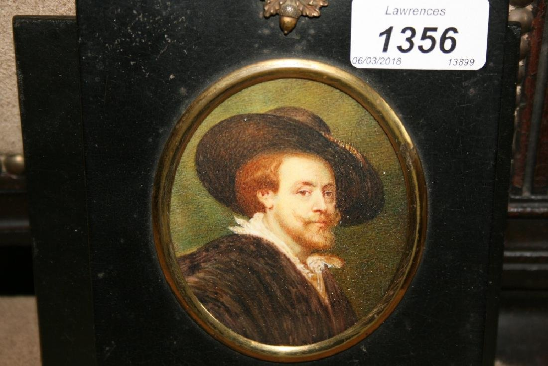 Miniature portrait of a Dutch gentleman with a large