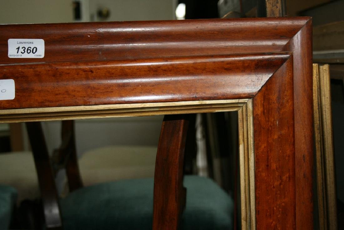 Two 19th Century maplewood picture frames, aperture