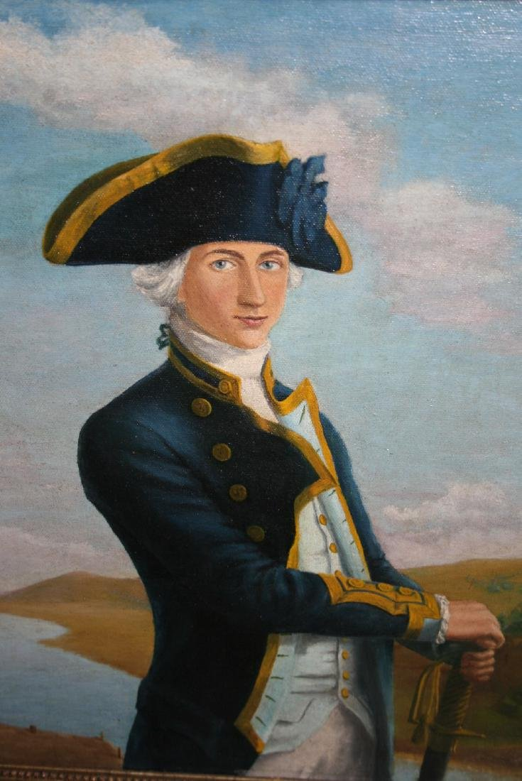 20th Century oil, portrait of Admiral Lord Nelson,
