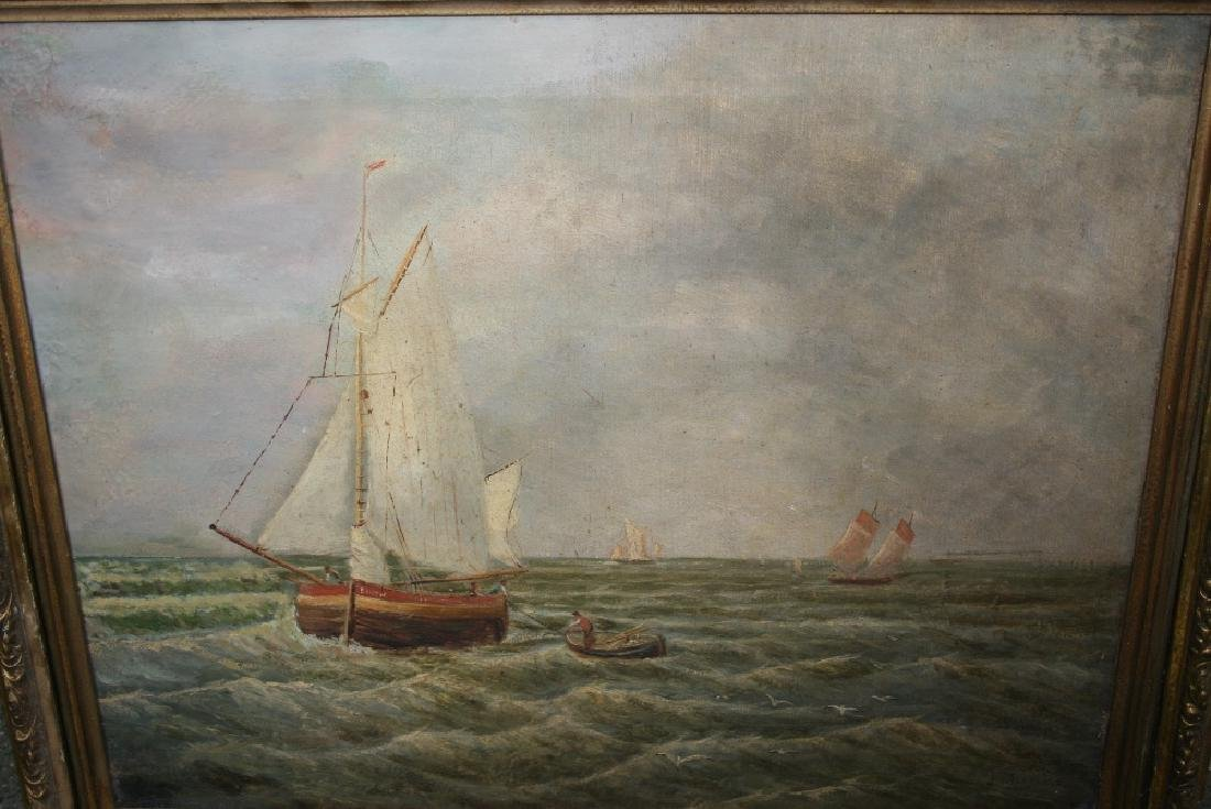J. Williams, signed oil on canvas, maritime scene with