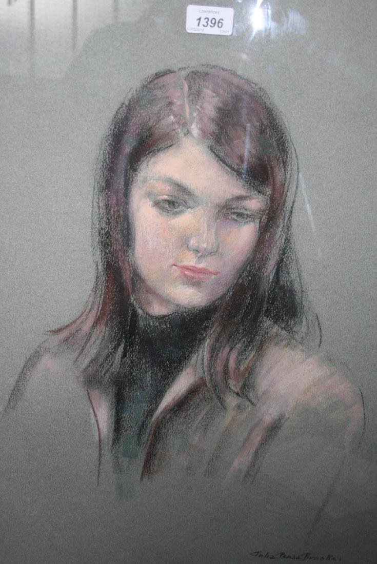 Julia Penso Brooke, pastel portrait of Pat Warrington,