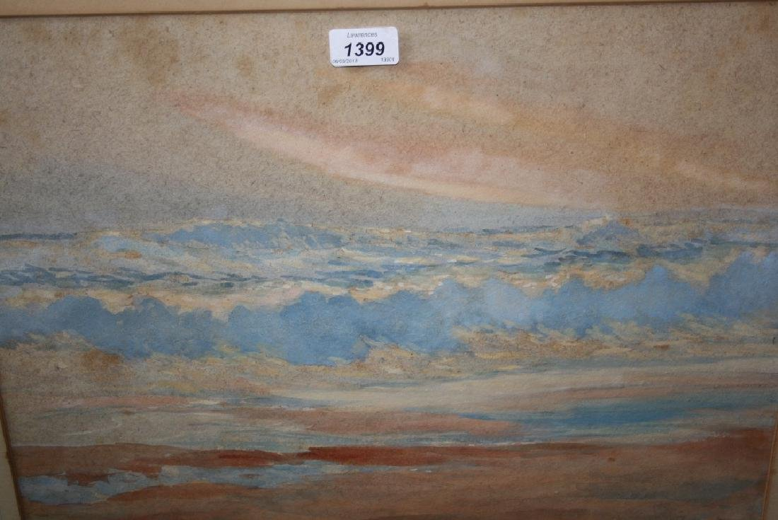 George W. Pilkington, watercolour, seascape, signed,