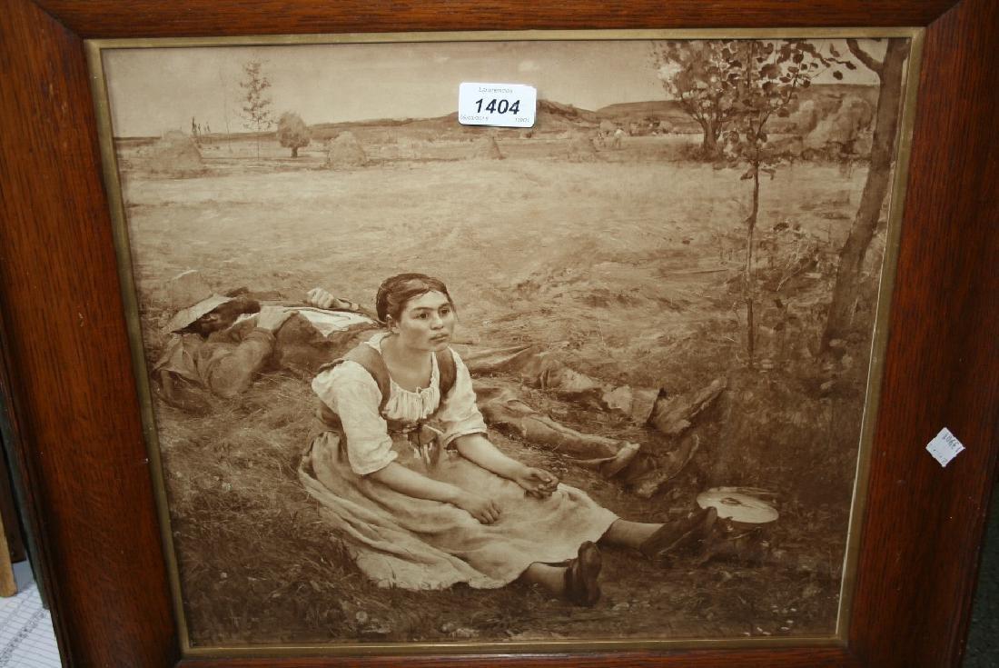 Jules Basten-Lepage, pair of framed prints, ' Haymaking