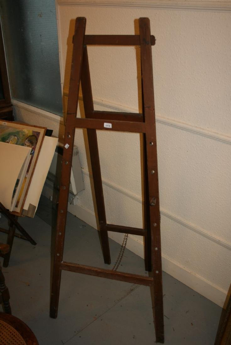 Artists pitch pine folding easel