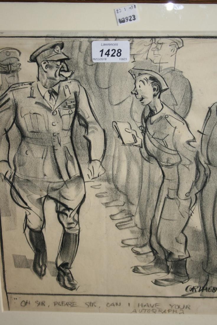 Grimes, pencil cartoon, ' Oh Sir, Please Sir, Can I