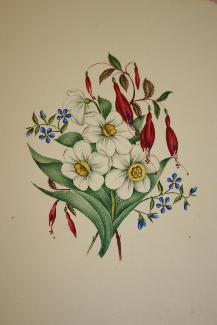19th Century album containing a collection of sketches,