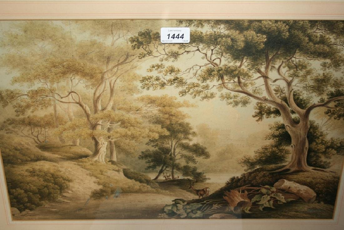 19th Century watercolour, The Deer Park, Epping Forest,