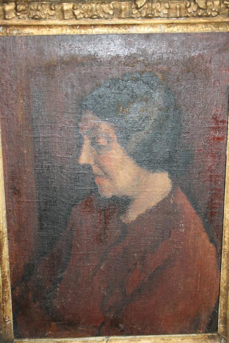 Early 20th Century oil on canvas, half length portrait