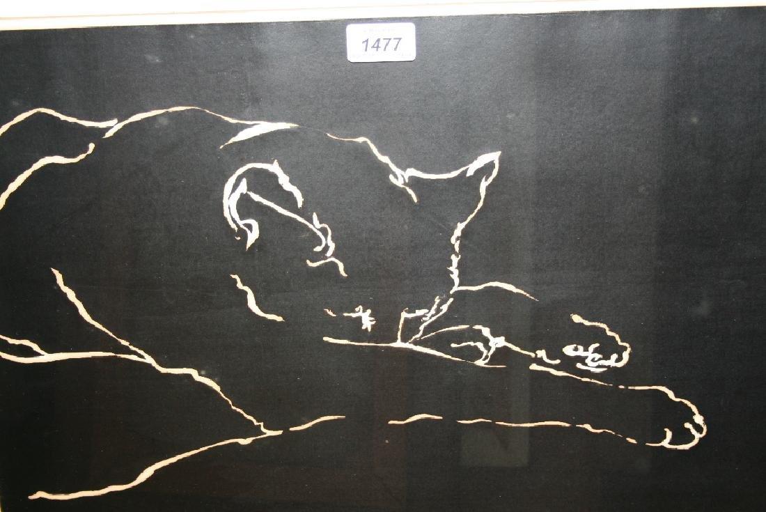 Maggie Scott (Slade school), signed woodcut print,