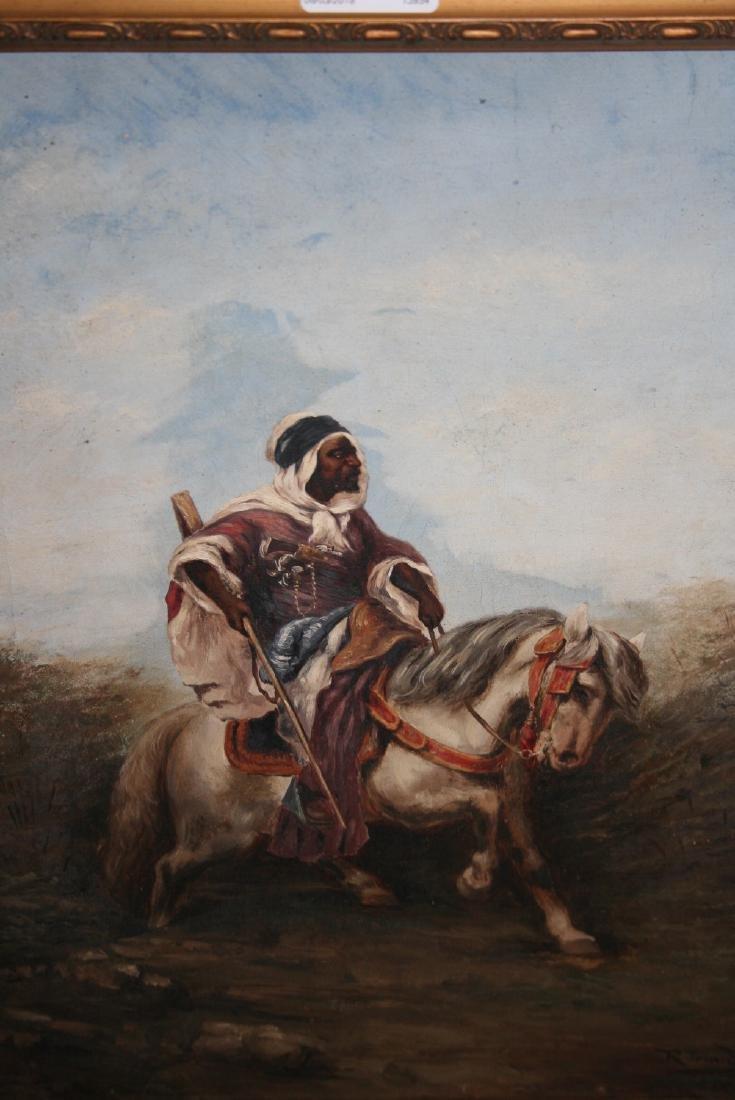 R. Trinidad, signed oil on canvas, portrait of an Arab