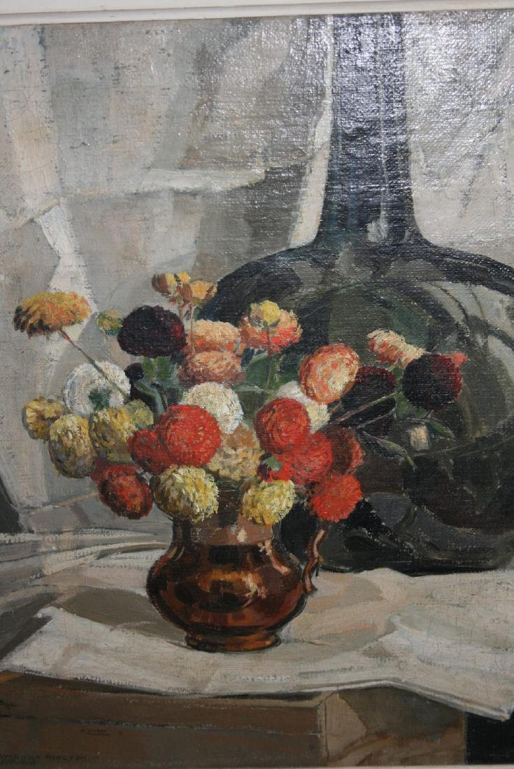 Cavendish Morton, oil on canvas, still life, flowers in