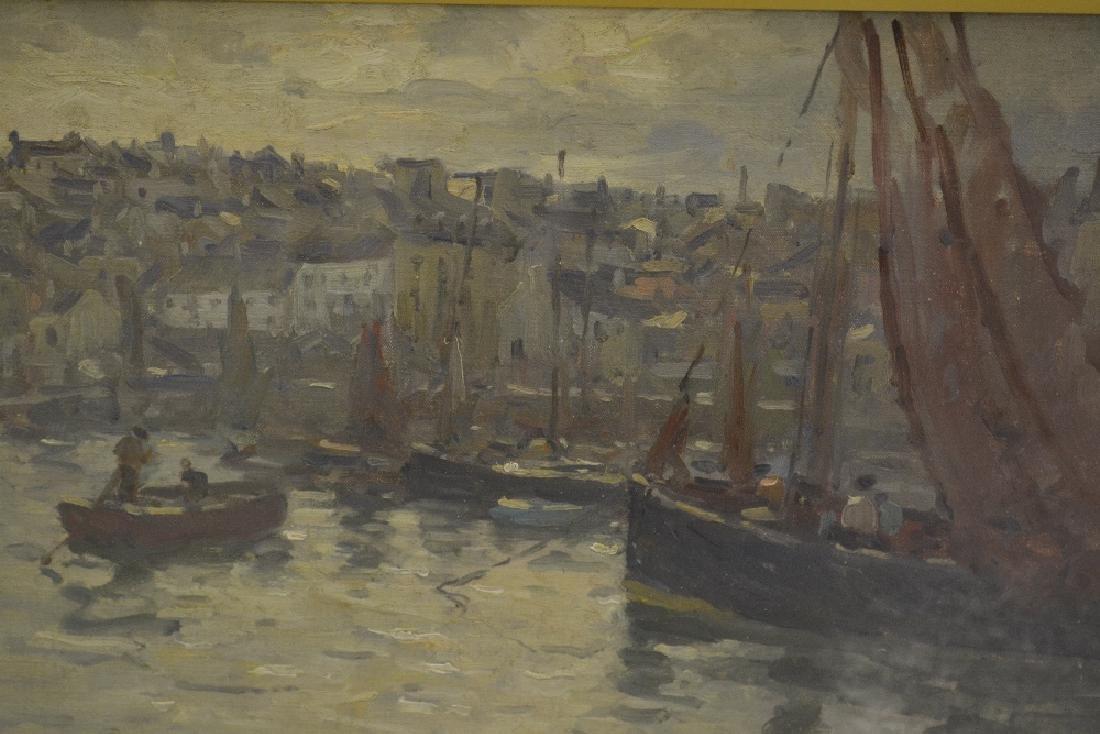 Terrick Williams, oil on canvas, entitled ' Douarnenez,