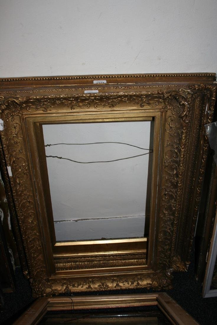 Six various 19th and 20th Century gilded picture frames