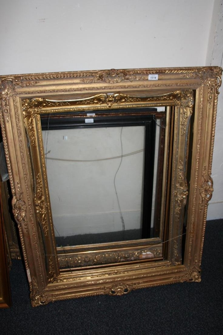 Quantity of larger rectangular gilded and swept picture