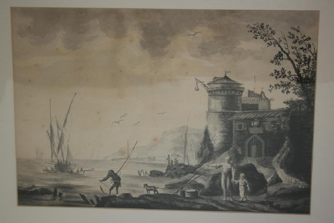 Folio of various watercolours and prints