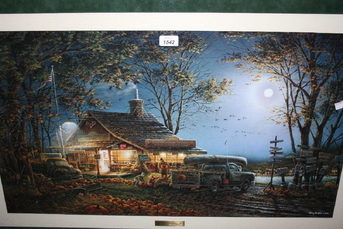 Large framed coloured Limited Edtion print, ' Autumn