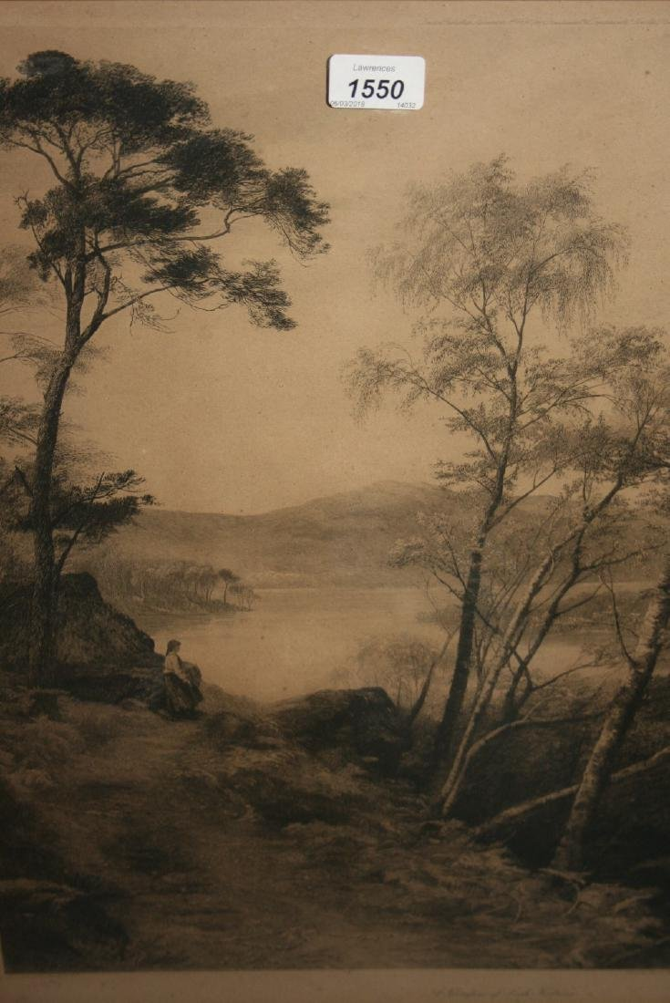 David Law, pair of signed black and white etchings,