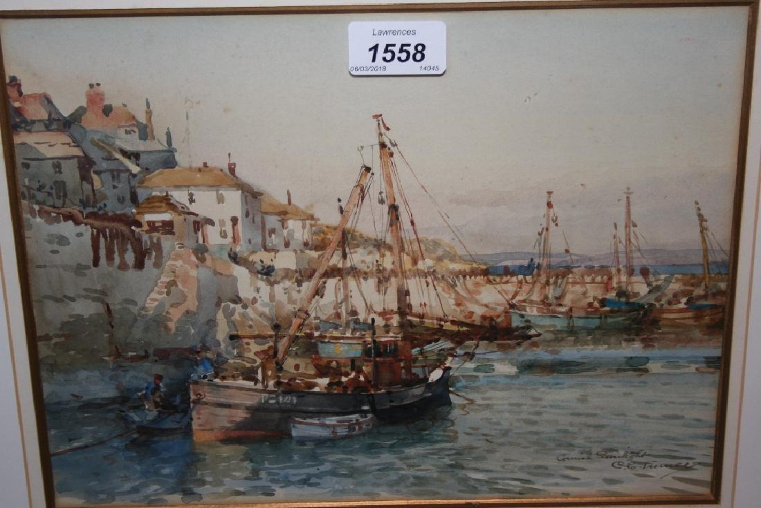 Charles E. Turner, watercolour, entitled ' Cornish