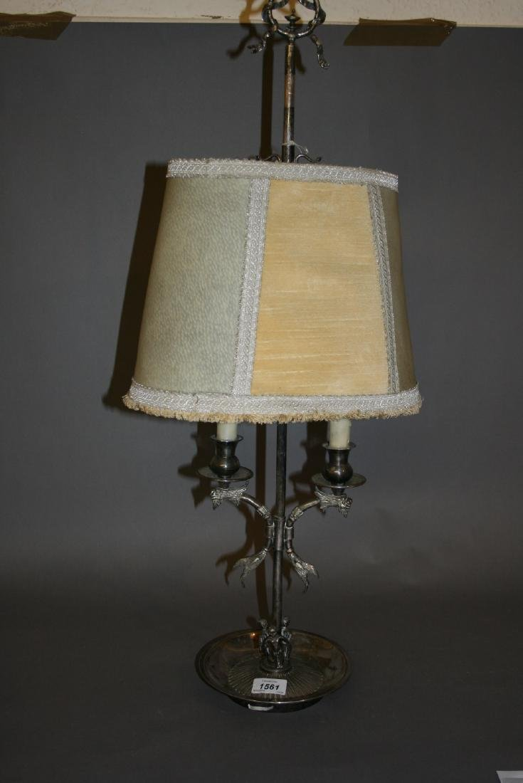 Late 19th or early 20th Century silvered brass and