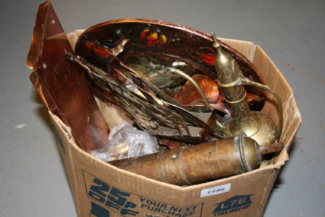 Box of various metal ware