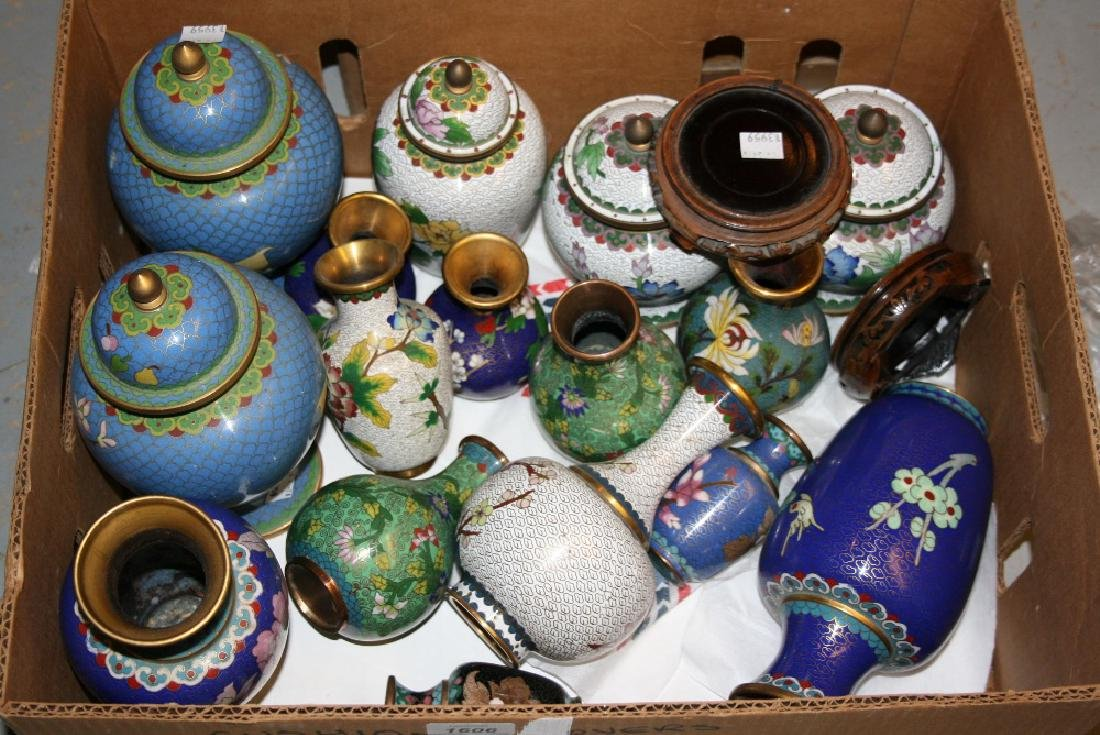 Large collection of 20th Century Chinese cloisonné