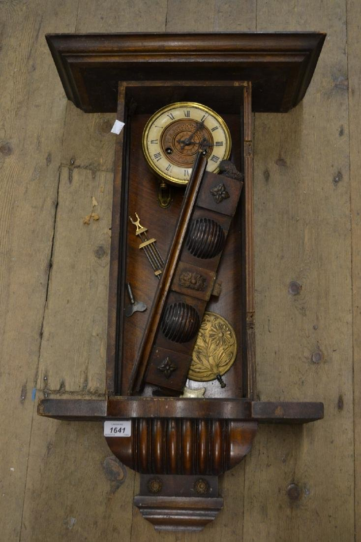 Vienna style wall clock with circular dial having two