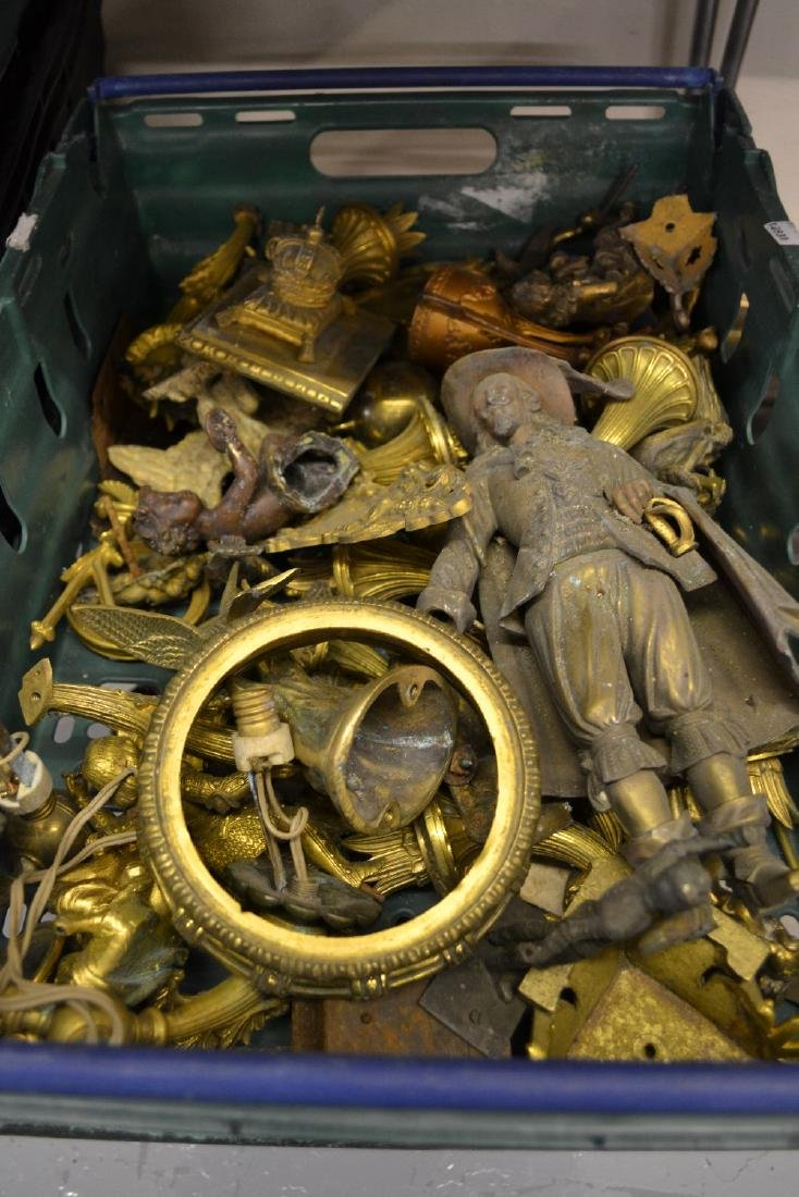 Box containing a large quantity of various ormolu and