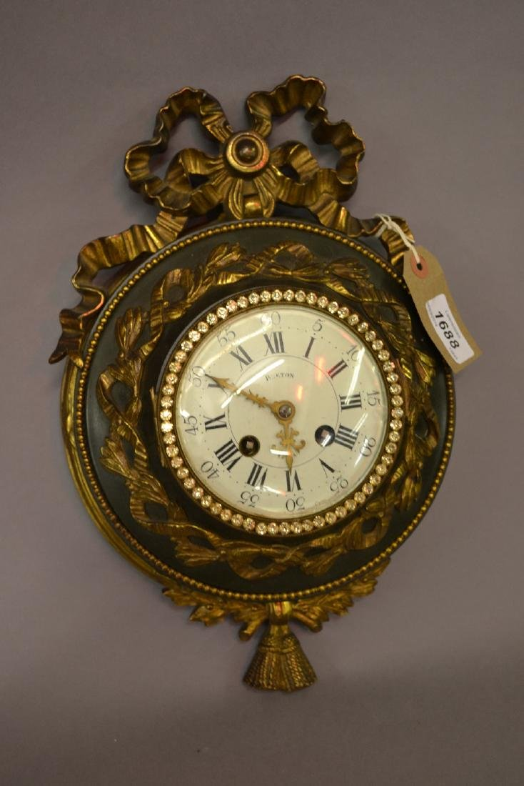 Late 19th / early 20th Century Cartel clock having