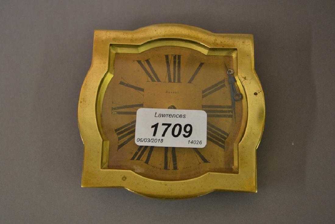 1920's Asprey gilt brass strutt clock (at fault)