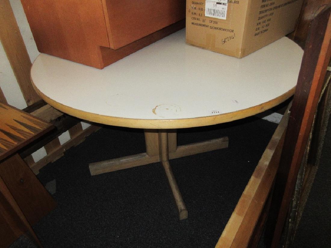 Gordon Russell circular white melamine top table on