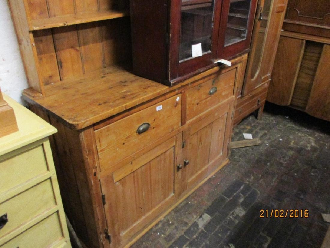 19th Century stripped and polished pine dresser with a
