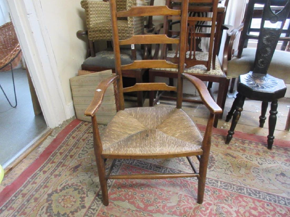 Early 20th Century Liberty style ladder back chair with