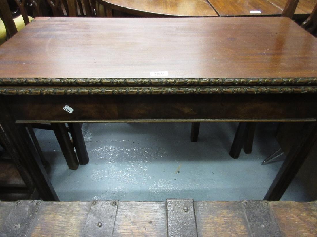 19th Century rectangular mahogany fold-over tea table