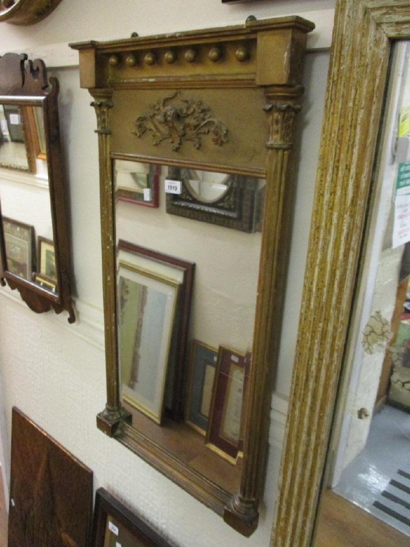 Small rectangular gilt moulded composition wall mirror