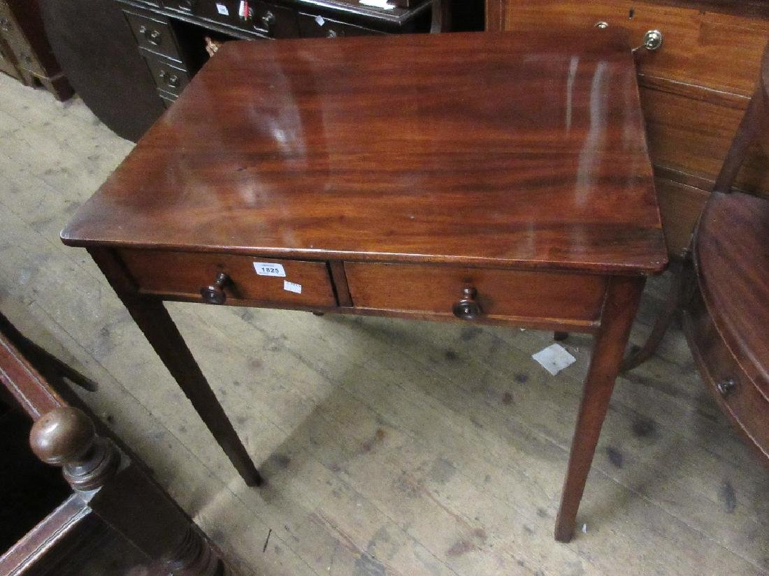 Small George III mahogany side table with two frieze