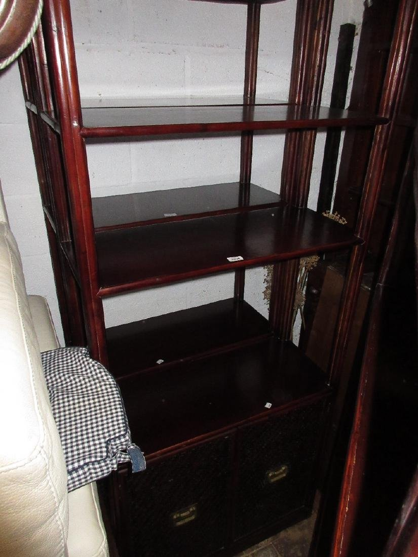 Oriental style free standing display unit having two