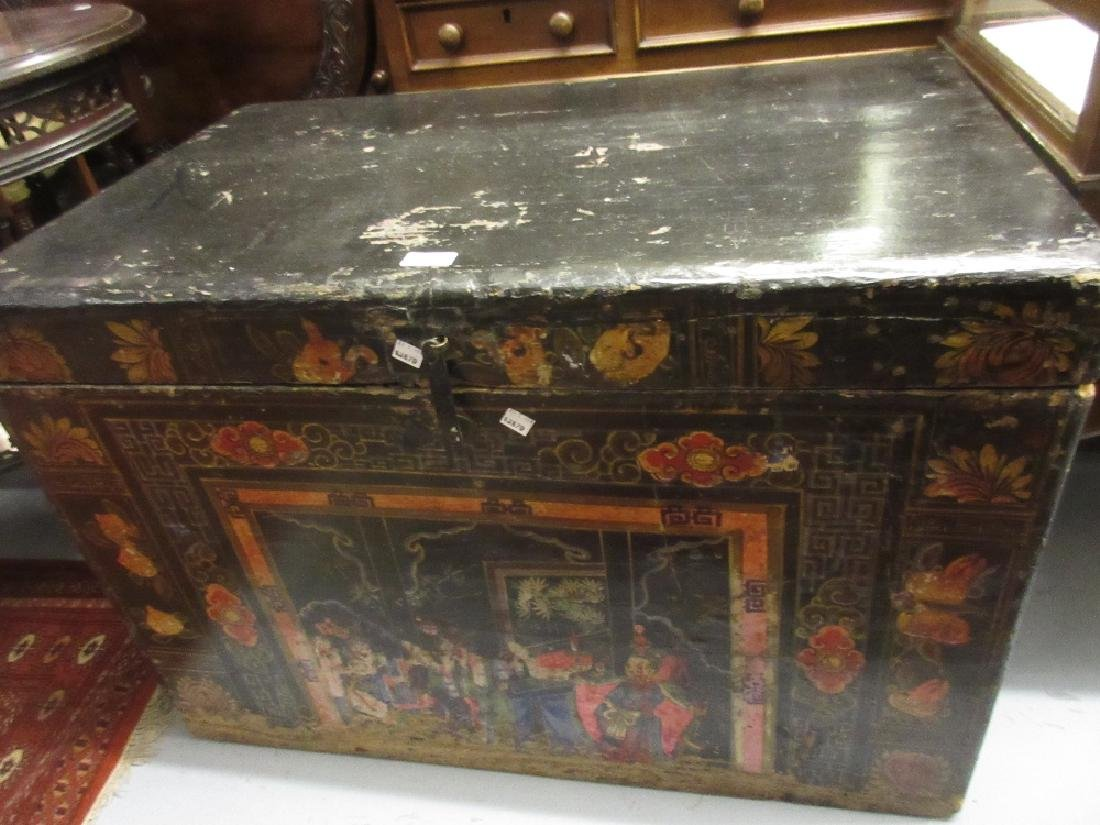 Late 19th / early 20th Century Chinese black lacquered