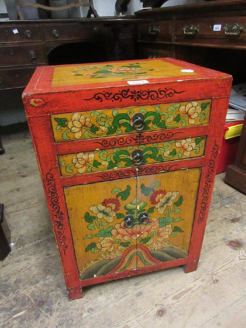 20th Century Chinese lacquered bedside table have