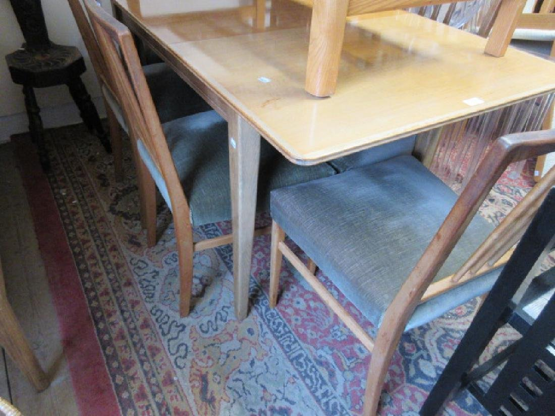 Mid 20th Century bleached walnut dining room suite by