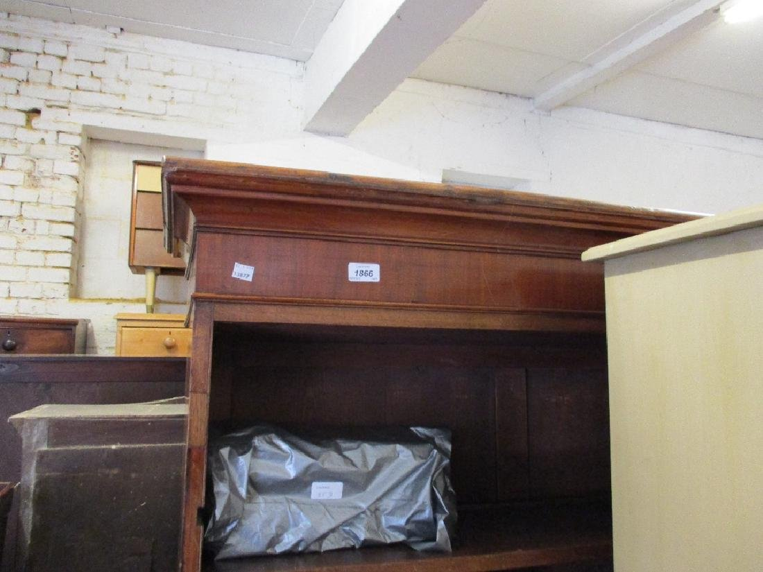19th Century mahogany bookcase top with a moulded