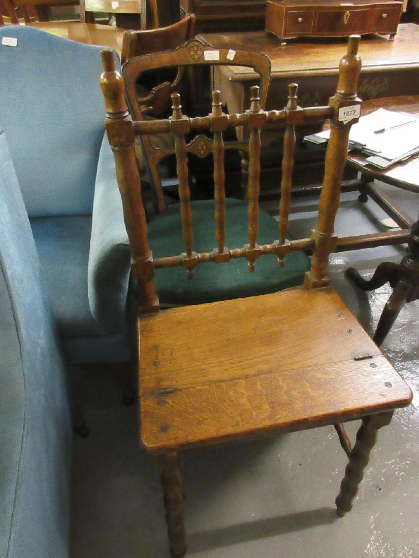 Victorian oak metamorphic step / chair