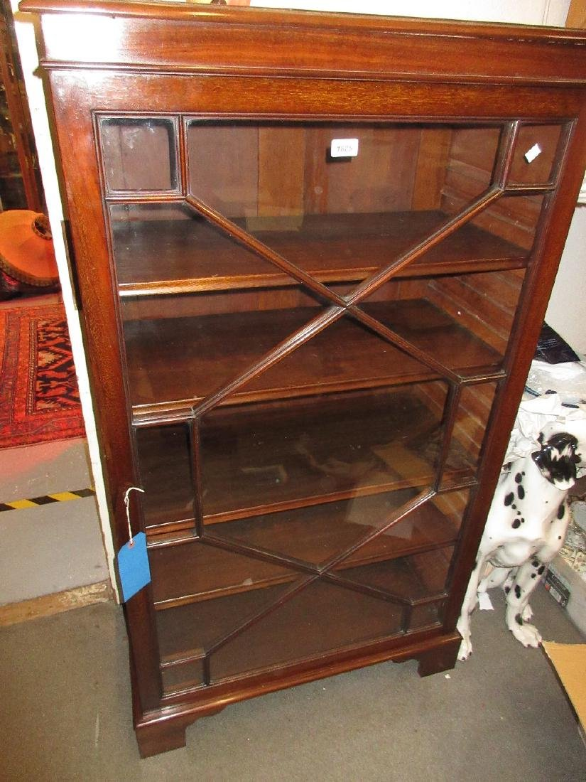 Early 20th Century mahogany side cabinet / bookcase,