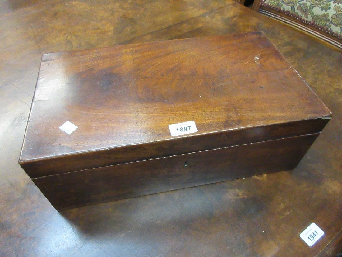 19th Century mahogany rectangular fold-over writing