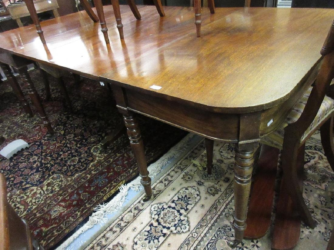 19th Century mahogany dining table, the centre section
