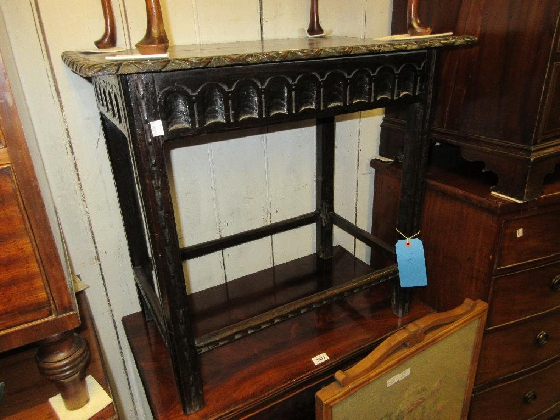 19th Century carved oak Derbyshire style side chair,