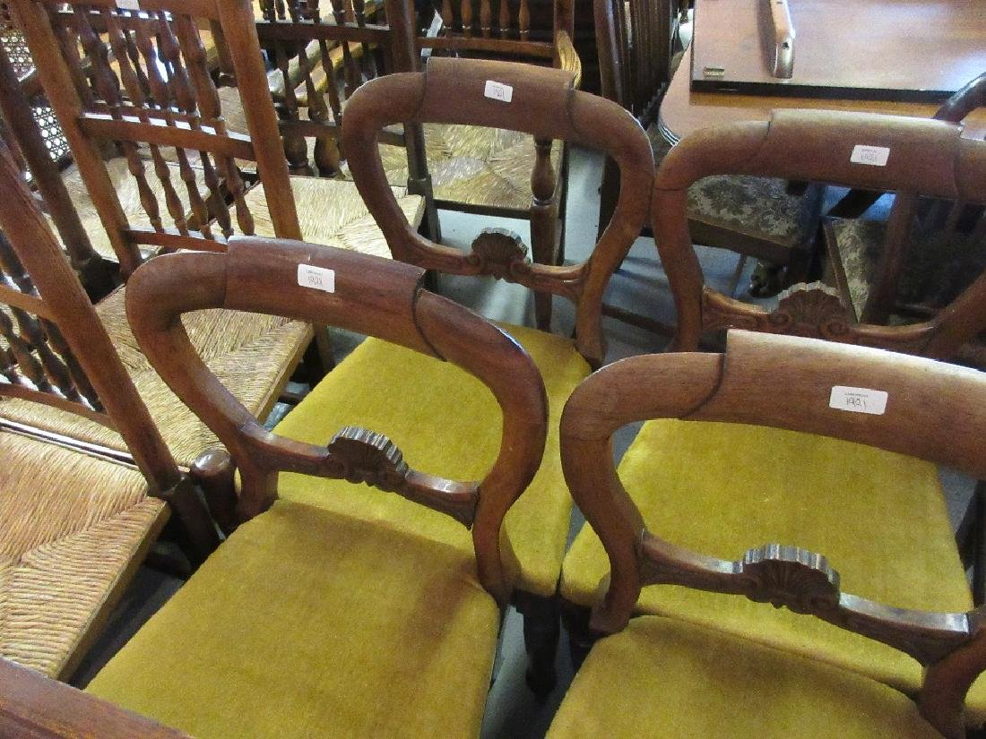 Set of six 19th Century rosewood balloon back dining