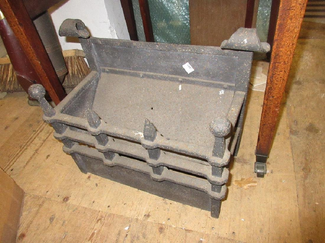 Small wrought iron fire basket